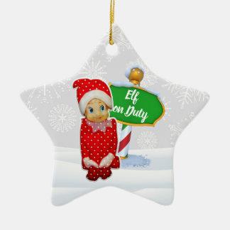 F-D Elf op de Ornamenten 53086C13 van Kerstmis van