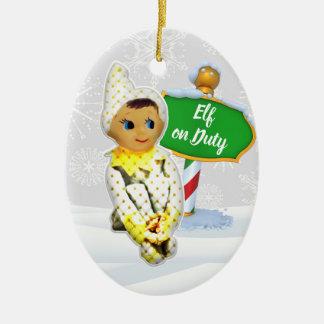 F-D Elf op de Ornamenten 53086C6 van Kerstmis van