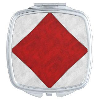 F Foxtrot Maritieme Vlag van het Signaal van de Makeup Spiegeltje