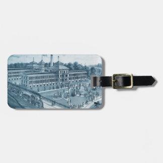 Fabriek 1871 Afbeelding Elgin Illinois van het Kofferlabel
