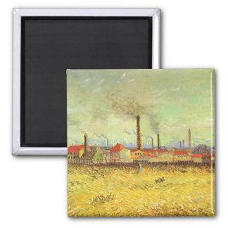 Fabrieken in Asnieres door Vincent van Gogh Vierkante Magneet