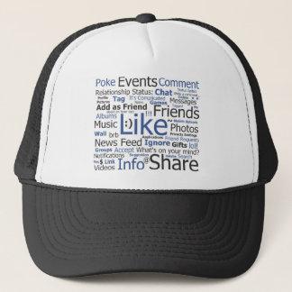 Facebook - als, geëtiketteerde por, vrienden trucker pet