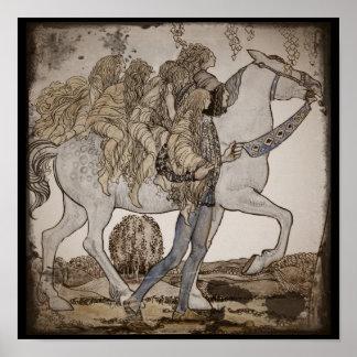 Faeries op Horseback Poster