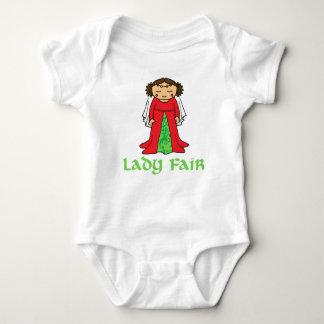 Fair Maid Marian de t-shirtbaby en kind van dame Romper