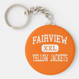 Fairview - Gele Hoge Jasjes - - Fairview Basic Ronde Button Sleutelhanger