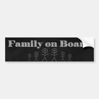 Familie aan boord bumpersticker