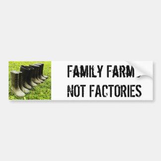 Familie Gumboots voor het Boerderij Bumpersticker