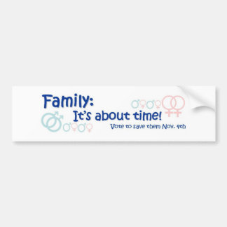 Familie-het is over Tijd Nr op 8 Bumpersticker