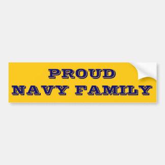 Familie van de Marine van de Sticker van de bumper Bumpersticker