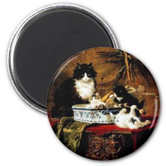 Familie van Katten, Henriëtte ronner-Knip Ronde Magneet 5,7 Cm