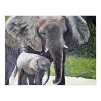 Familie van Olifanten Briefkaart