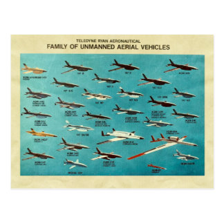 Familie van onbemande luchtvoertuigen briefkaart