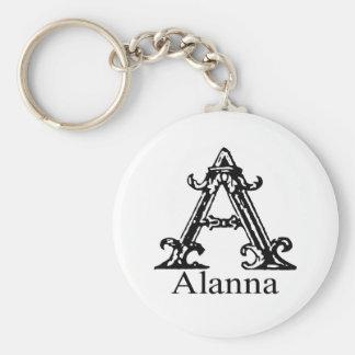 Fancy Monogram: Alanna Sleutelhanger