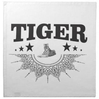 fancy tijgerlogo servet