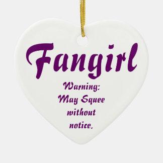 Fangirl/Fanfic Keramisch Hart Ornament