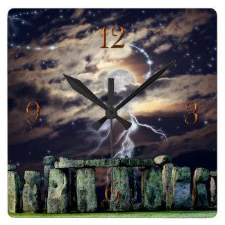 Fantasie van de Stenen & van de Maan van Vierkante Klok