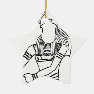 Farao 1 van de mestkever keramisch ster ornament