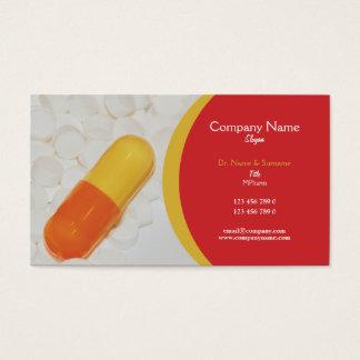 Farmaceutische tabletten Arts Visitekaartjes