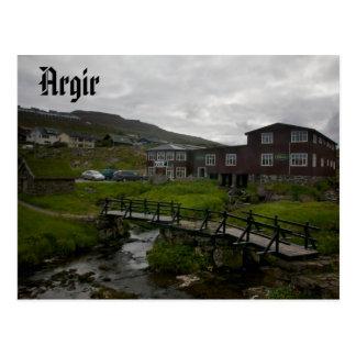 Faroese Dorp van Argir: Briefkaart