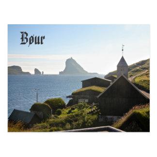 Faroese Dorp van Bøur: Briefkaart