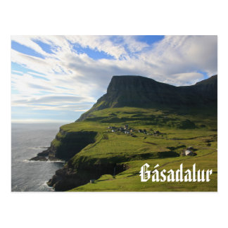 Faroese Dorp van Gásadalur: Briefkaart
