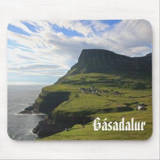 Faroese Dorp van Gásadalur: Mousepad Muismatten