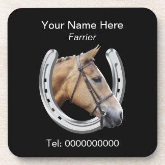 Farrier paard en hoef onderzetter