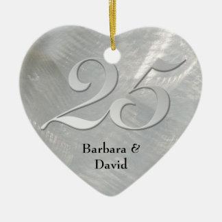 Faux borstelde het Zilveren Ornament van het