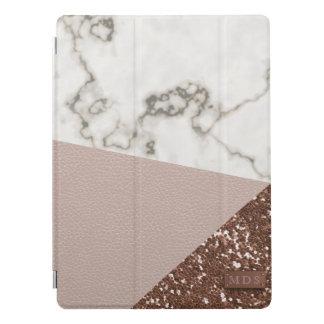 Faux nam Goud schittert bloost het Marmer van het iPad Pro Cover