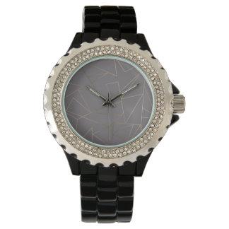 Faux nam gouden elegante moderne minimalistische horloges