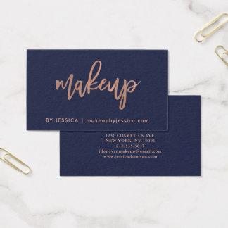 Faux nam Gouden Manuscript op de Blauwe | Make-up Visitekaartjes