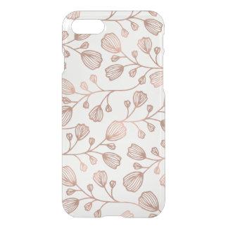Faux nam het Gouden Botanische Duidelijke Patroon iPhone 8/7 Hoesje