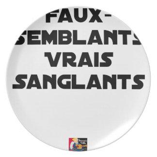 FAUX-SEMBLANTS, WARE dat - Woordspelingen Melamine+bord