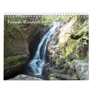 Favoriete Watervallen 2017 Kalender