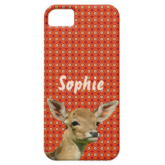 Fawn op rood/oranje patroon barely there iPhone 5 hoesje