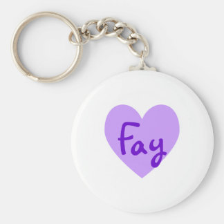 Fay in Paars Basic Ronde Button Sleutelhanger