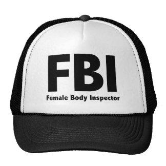 FBI M. Funny Rude Humor Mesh Petten
