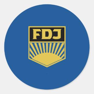 Fdj, de vlag van Duitsland Ronde Sticker