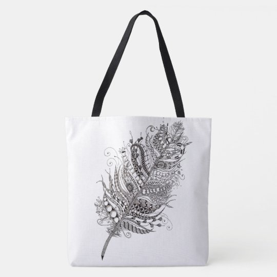 Feather bag draagtas