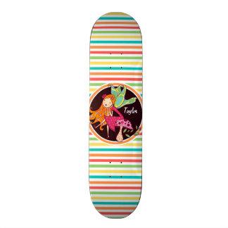 Fee op de Heldere Strepen van de Regenboog Skateboard Deck