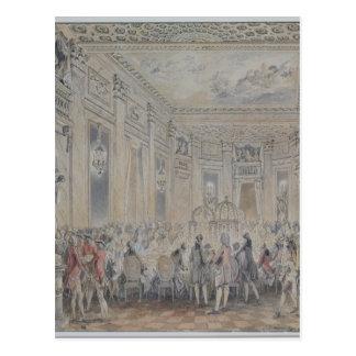 Feest door Mevrouw du Barry voor Louis XV wordt Briefkaart