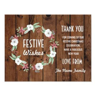 Feestelijk dank u Vakantie van Kerstmis van Kaart