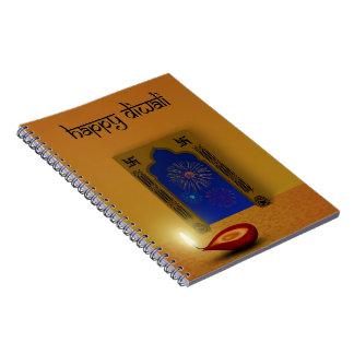 Feestelijk Gelukkig Vuurwerk Diwali - Ringband Notitieboek