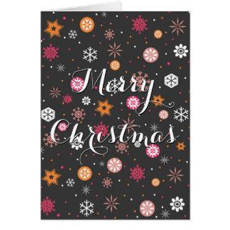 """Feestelijke """"de sneeuwvlokken gloeiende sterren briefkaarten 0"""