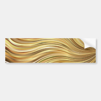 Feestelijke Elegante Gouden Abstracte Stromende Bumpersticker