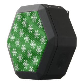 Feestelijke Groen & Witte Sneeuwvlok Zwarte Bluetooth Speaker