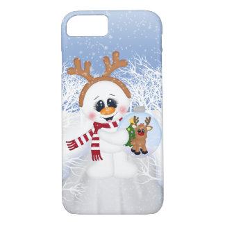 Feestelijke iPhone van de de sneeuwmanVakantie van