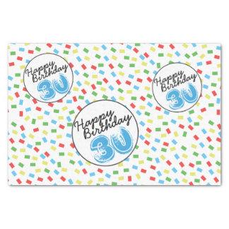 feestelijke Kleurrijk van het 30ste Papieren 25,4 X 38,1 Cm Zijdepapier