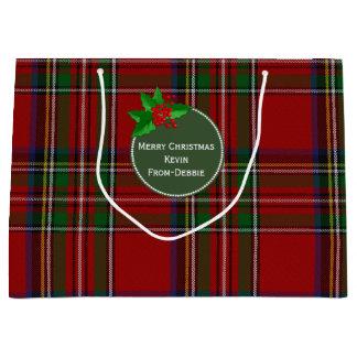 Feestelijke Koninklijke Stewart Large Custom Gift Groot Cadeauzakje