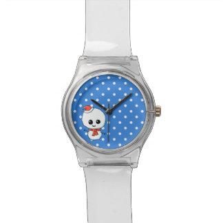 Feestelijke Leuke Sneeuwman Horloge